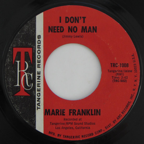 Marie Franklin - I Don't Need No Man / Anything You Wasn't Born With