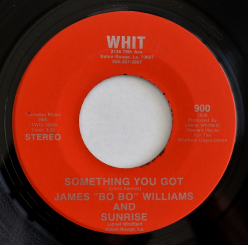 "Sunrise / James ""Bo Bo"" Williams And Sunrise - Ease It On In / Something You Got"