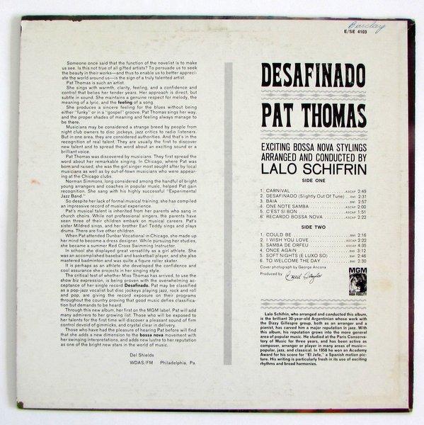 Pat Thomas - Desafinado