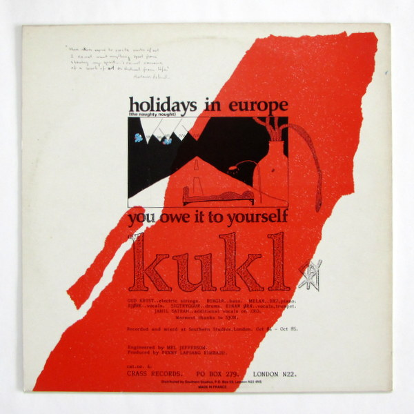 Kukl - Holidays In Europe (The Naughty Nought)  Bjork !