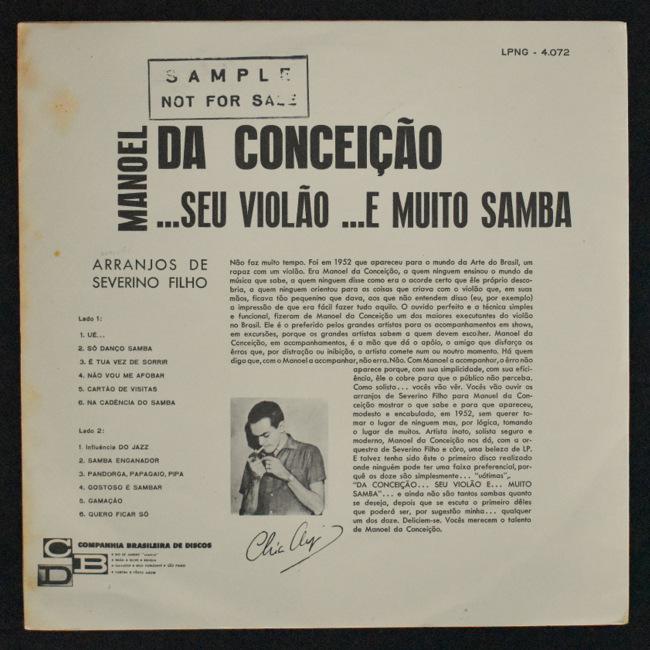 Manoel Da Conceicao - Da Conceicao... Seu Violao... E Muito Samba