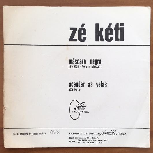Ze Keti - Mascara Negra / Acender As Velas