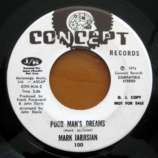 Mark Jarjisian - It Don't Matter (If It Rains Today) / Poor Man's Dream