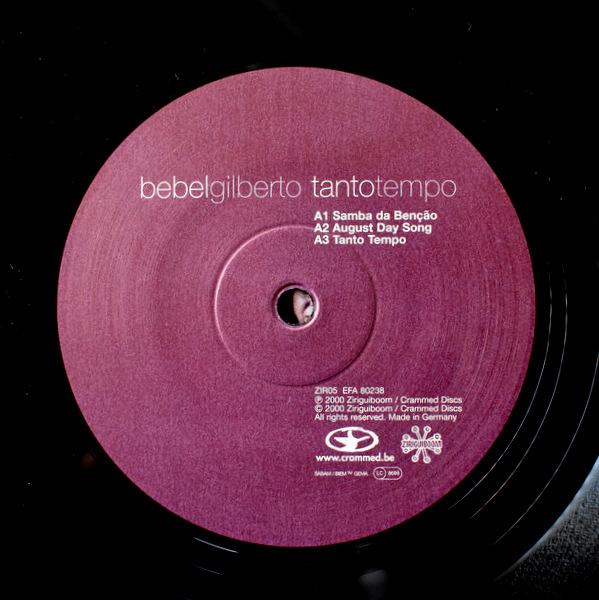 Bebel Gilberto - Tanto Tempo 2000年ベルギーオリジナル。