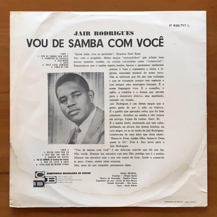 Jair Rodrigues - Vou De Samba Com Voce