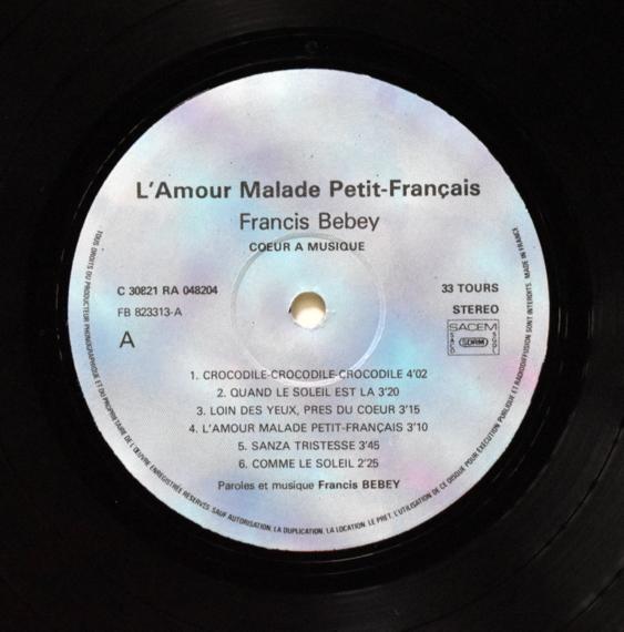 Francis Bebey - L'Amour Malade Petit - Francais