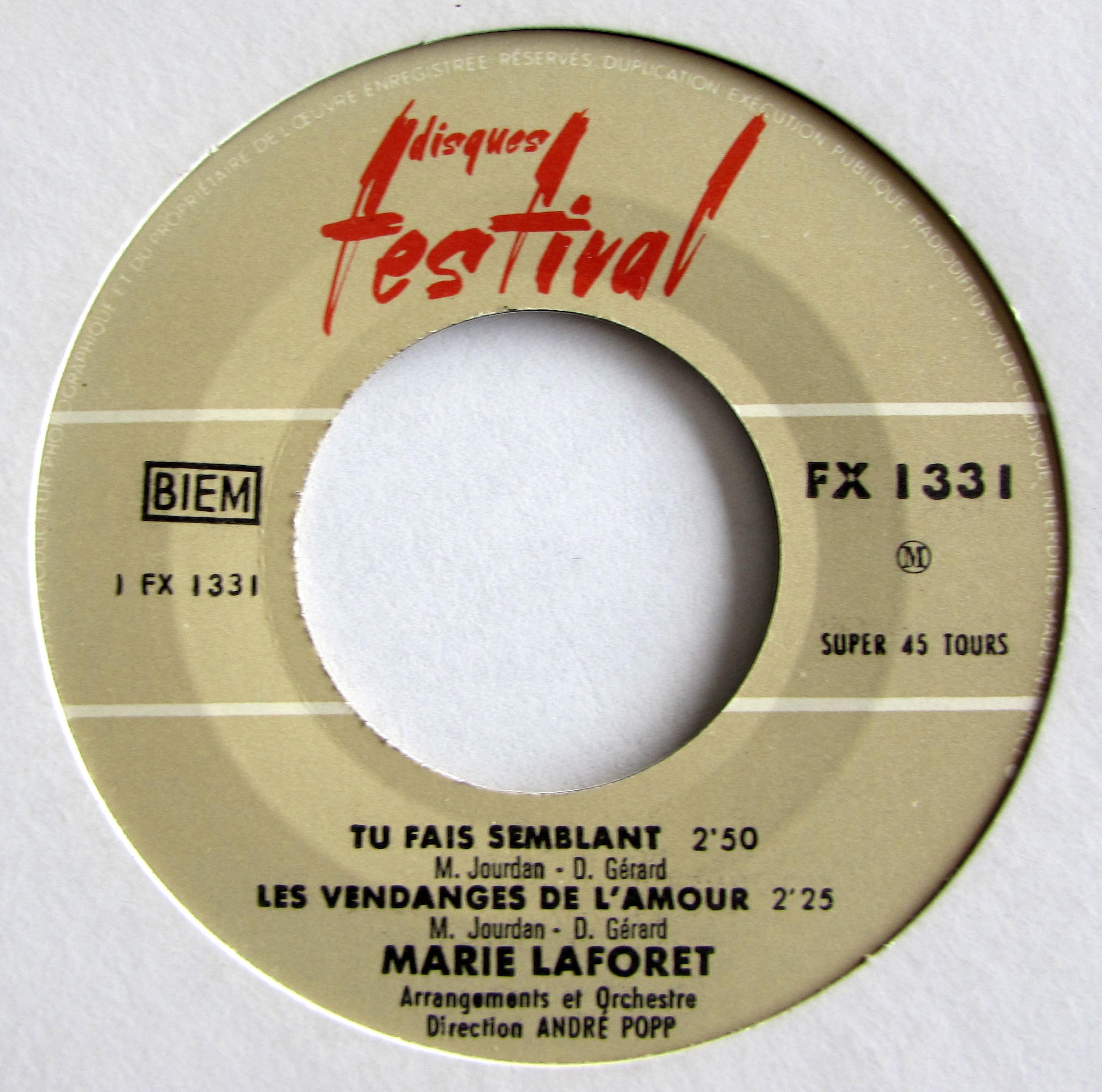 Marie Laforet - Tu Fais Semblant
