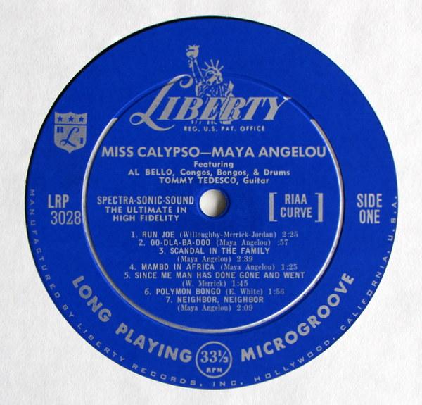 maya angelou / miss calypso