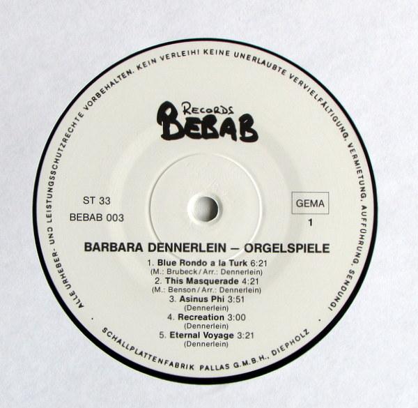 Barbara Dennerlein - Orgelspiele