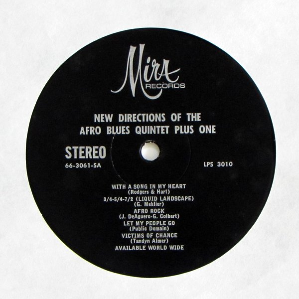 Afro Blues Quintet Plus One - New Directions Of The Afro Blues Quintet Plus One