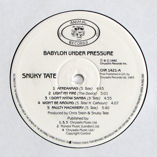 Snuky Tate - Babylon Under Pressure