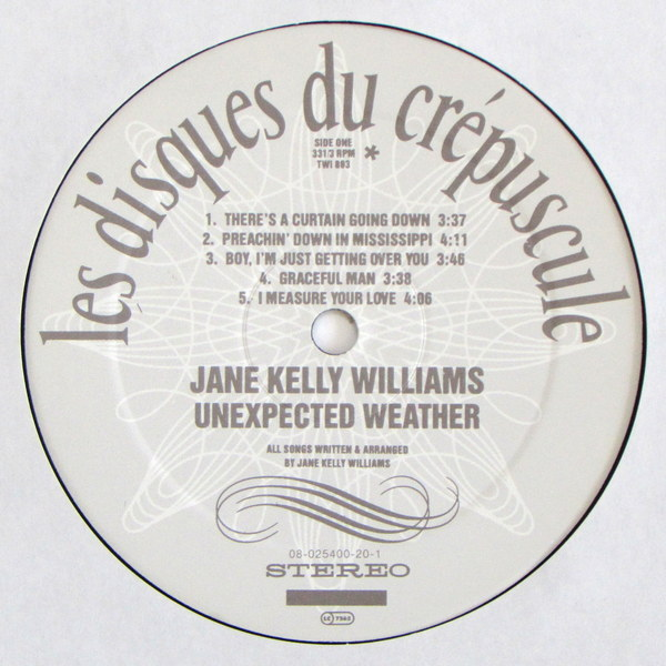 Jane Kelly Williams - Unexpected Weather