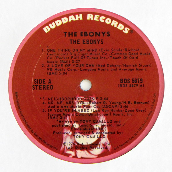 The Ebonys - Sing About Life