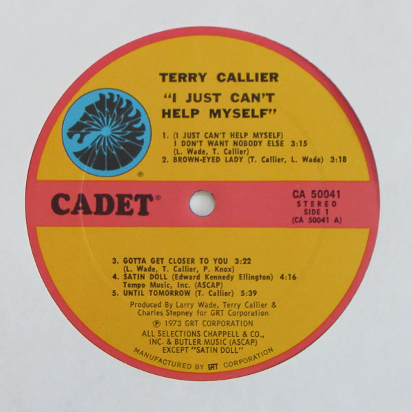 Terry Callier - I Just Can't Help Myself