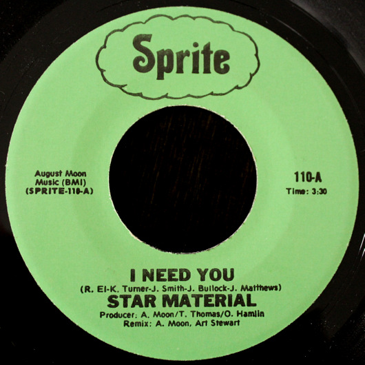 Star Material - I Need You / Give Me Some Play