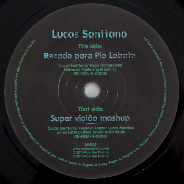 Lucas Santtana - Super Violao Mashup / Recado Para Pio Lobato