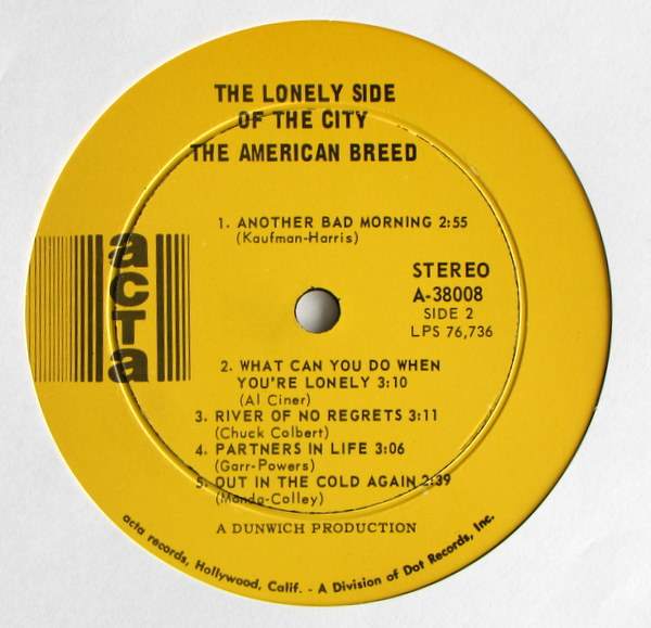 American Breed (The) - Lonely Side Of The City