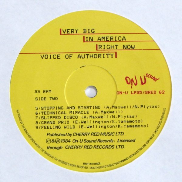 Voice Of Authority - Very Big In America Right Now