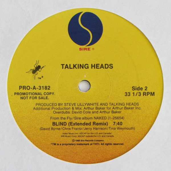 Talking Heads  – Blind (Extended Remix)