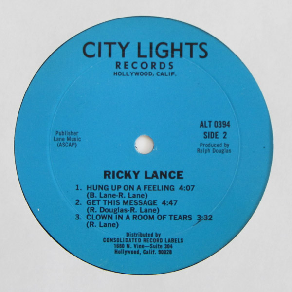 Ricky Lance - The Sun Is Rising On A Brand New Day