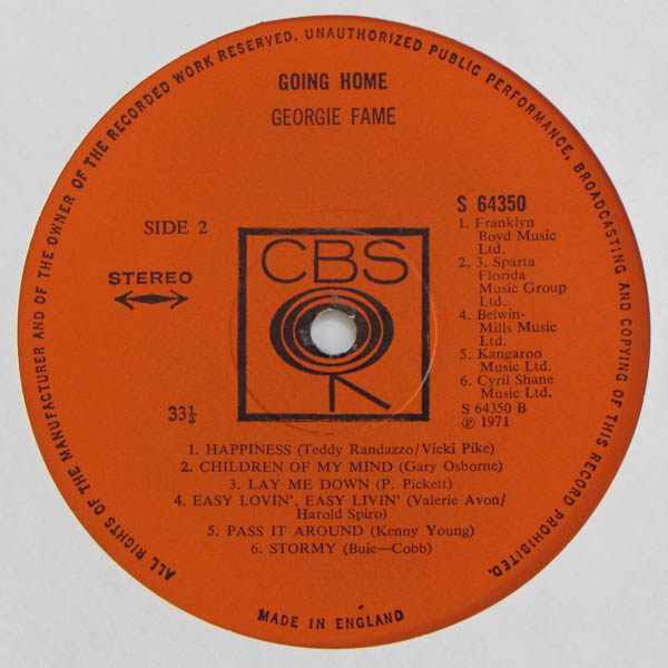Georgie Fame  – Going Home