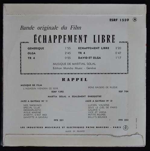 Martial Solal - Echappement Libre (Bande Originale Du Film)