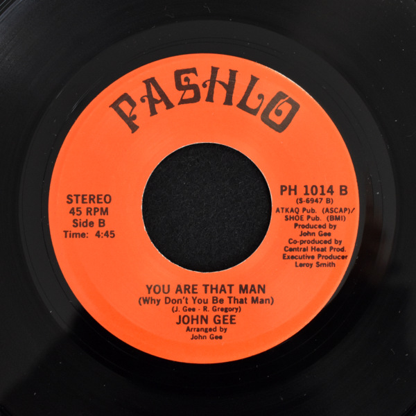 John Gee - Not Enough Love-Makin' / You Are That Man