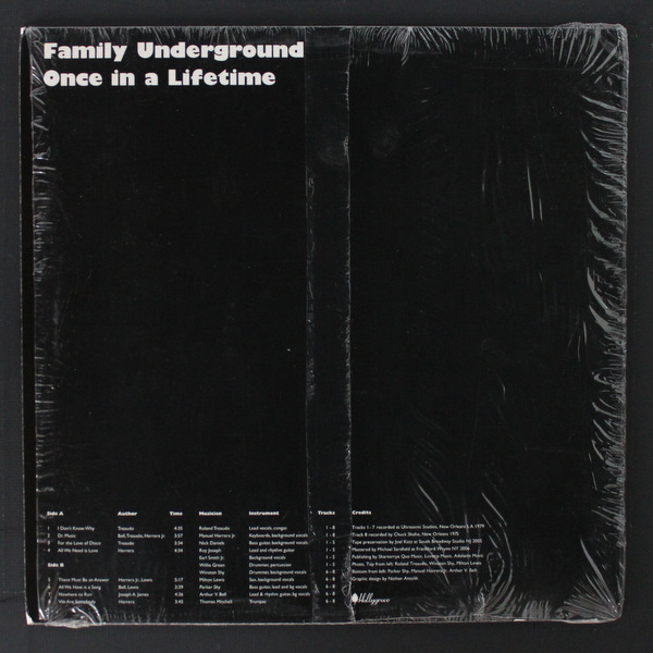 Family Underground - Once In A Lifetime