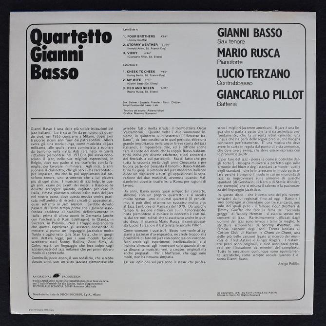 Quartetto Gianni Basso - Quartetto Gianni Basso