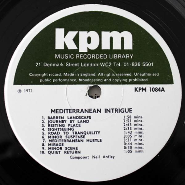 Neal Ardley / John Leach - Mediterranean Intrique / Martenot