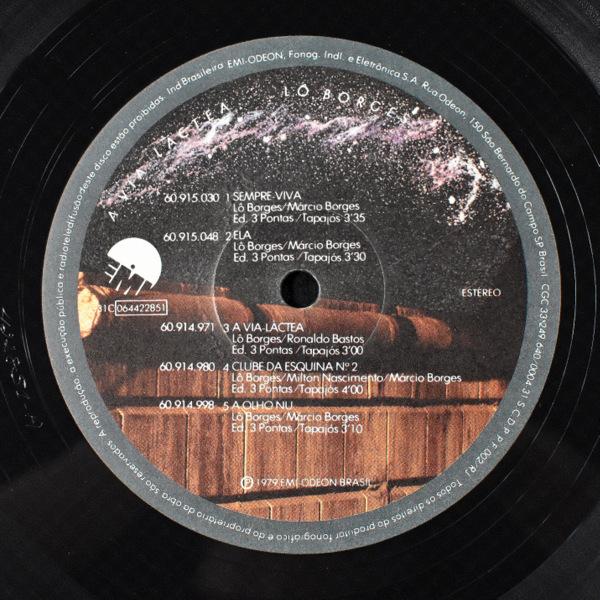 Lo Borges - A Via-Lactea 79年オリジナル。