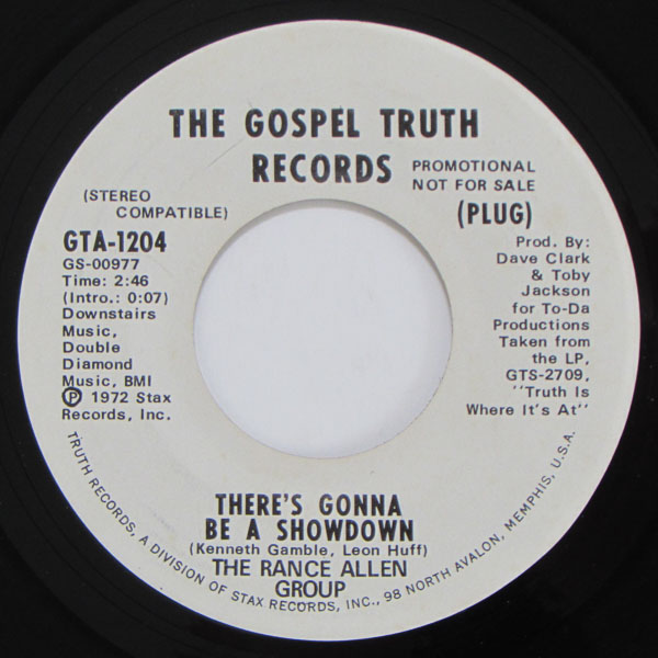The Rance Allen Group - There's Gonna Be A Showdown / That Will Be Good Enough For Me