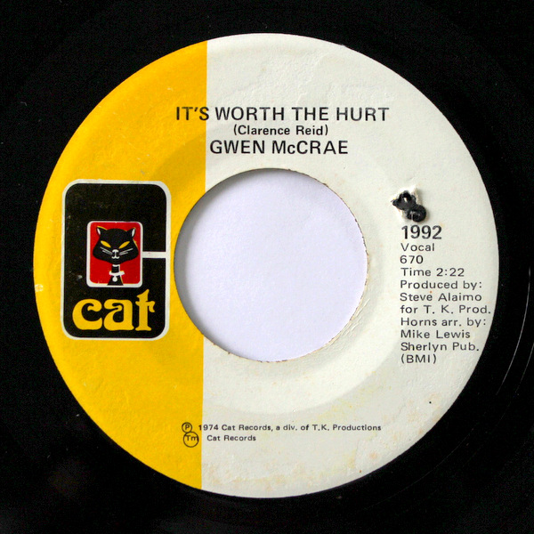 Gwen McCrae - It's Worth The Hurt / 90% Of Me Is You