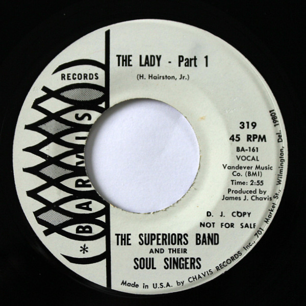 The Superiors Band & Their Soul Singers - The Lady (Part.1 / Part.2)  (D.J. Copy Promo)