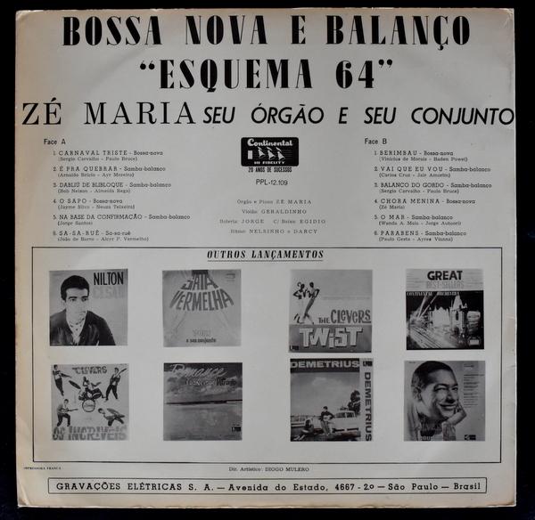 Ze Maria, Seu Orgao e seu Conjunto - Esquema 64 / Bossa Nova E Balanco