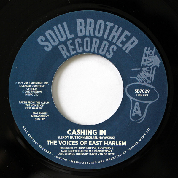 The Voices Of East Harlem - Cashing In / Take A Stand