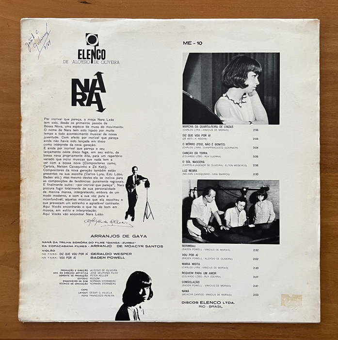 Nara Leao  – Nara '64 ブラジルオリジナル 盤美品