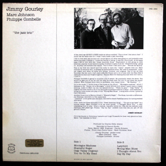 Jimmy Gourley / Marc Johnson / Philippe Combelle - The Jazz Trio