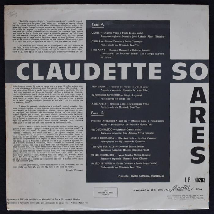 Claudette Soares - Claudette Soares オリジナル。美品