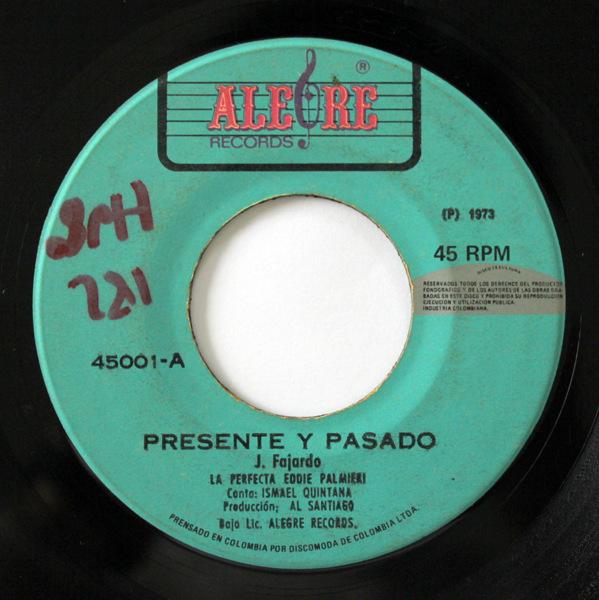 """Eddie Palmieri And His Conjunto """"La Perfecta"""" - Presente y Pasado - Ritmo Caliente"""