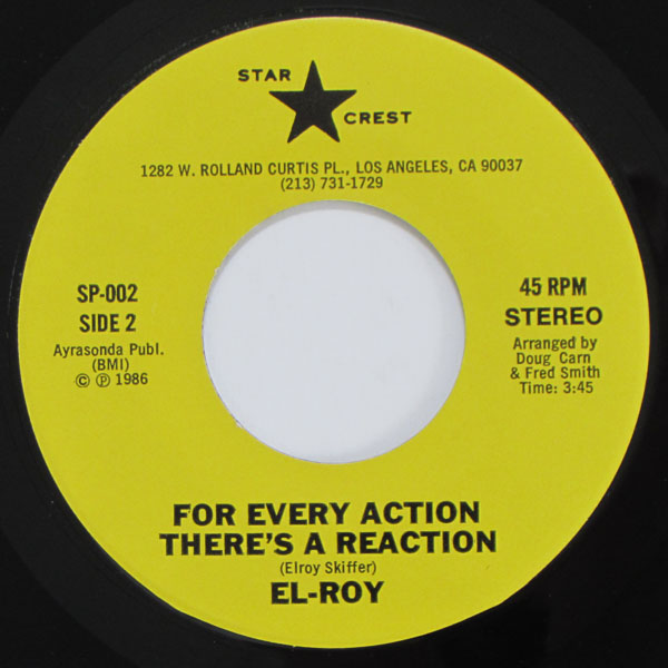 El Roy - I Crave Your Love / For Every Action There's A Reaction