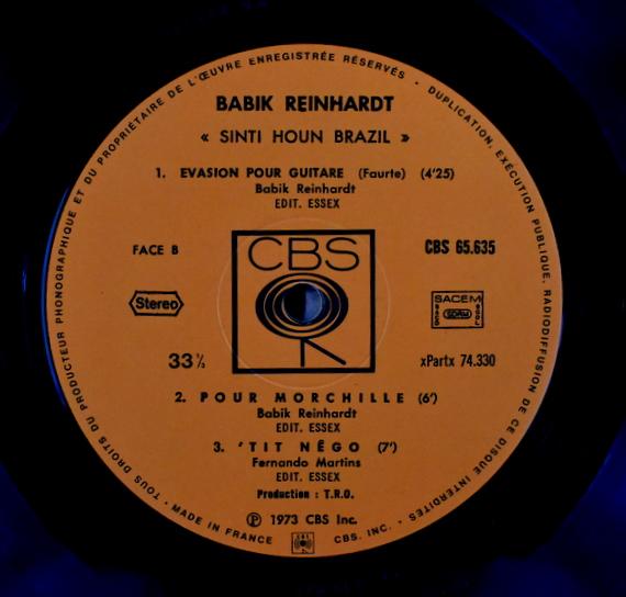 Babik Reinhardt - Sinti Houn Brazil