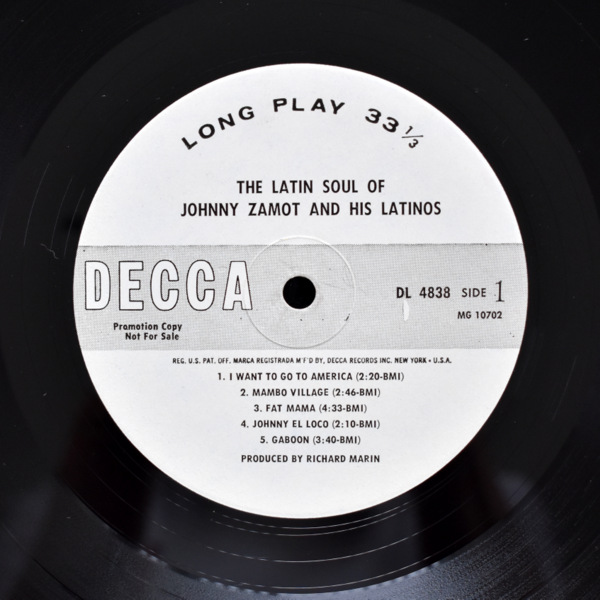 Johnny Zamot And His Latinos - The Latin Soul Of Johnny Zamot And His Latinos