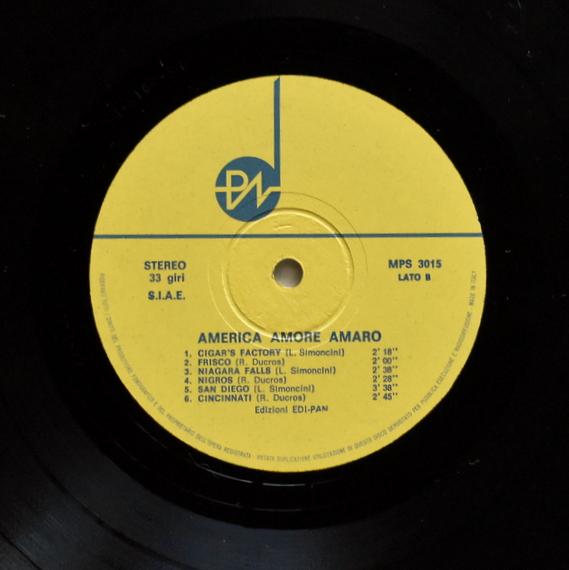 R. Ducros, L. Simoncini - America Amore Amaro  [LP]
