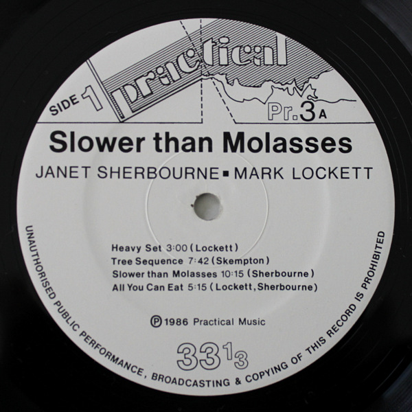 Mark Lockett And Janet Sherbourne ‎– Slower Than Molasses