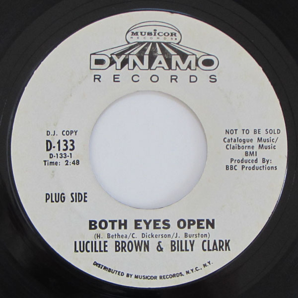 Lucille Brown &  Billy Clark / Billy Clark & His Orchestra - Both Eyes Open / Hot Gravy