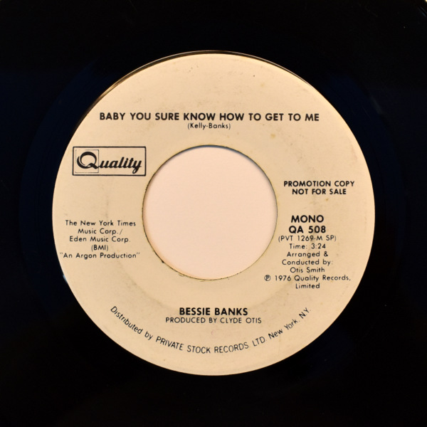 Bessie Banks - Baby You Sure Know How To Get To Me