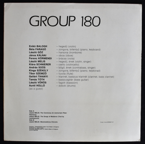 Group 180 Composed By Laszlo Melis - The Songs Of Maldoror