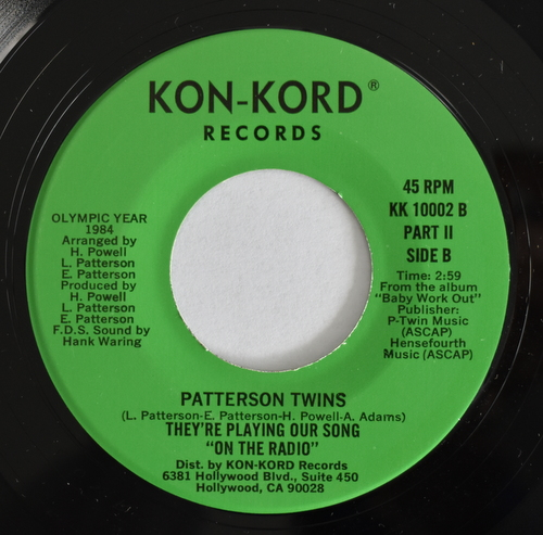"Patterson Twins - They're Playing Our Song ""On The Radio"" Part �/ Part �"