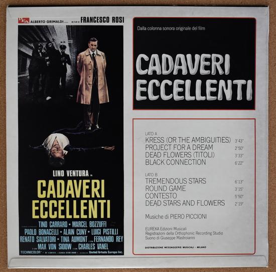 Piero Piccioni - Cadaveri Eccellenti (Colonna Sonora Originale)
